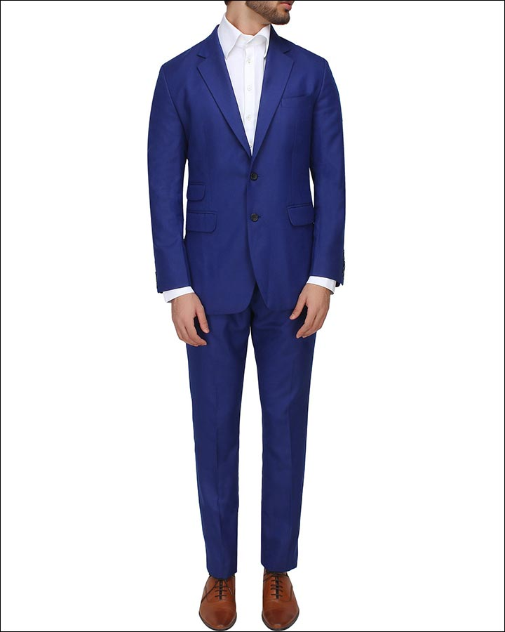 Royal-Blue-Suit-By-Sahil-Aneja-Indian Wedding Suits For Groom