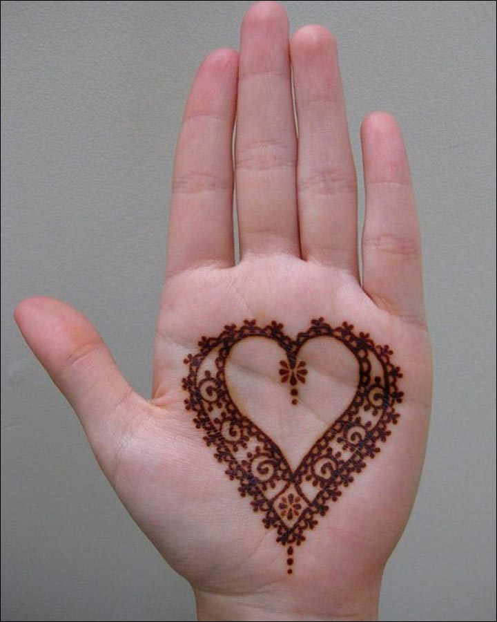 Mehndi Heart Shape : Heart mehndi designs beautiful and splendid henna works