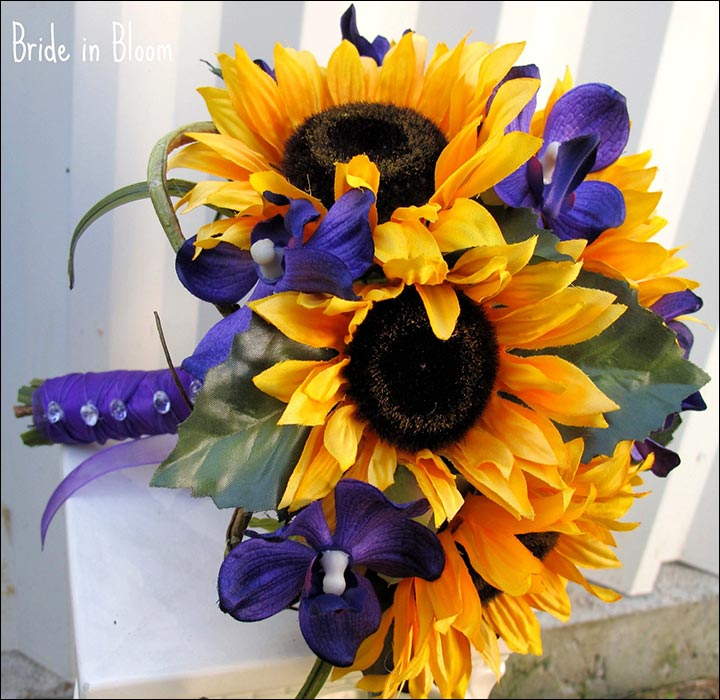 Fall wedding bouquets with sunflowers for Fall wedding bouquets for sale