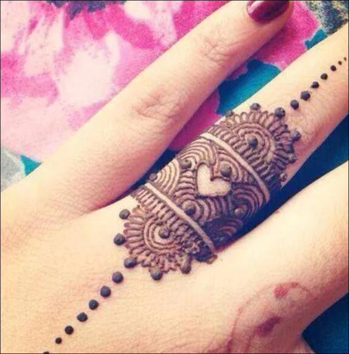 Mehndi Heart Design Simple : Heart mehndi designs beautiful and splendid henna works