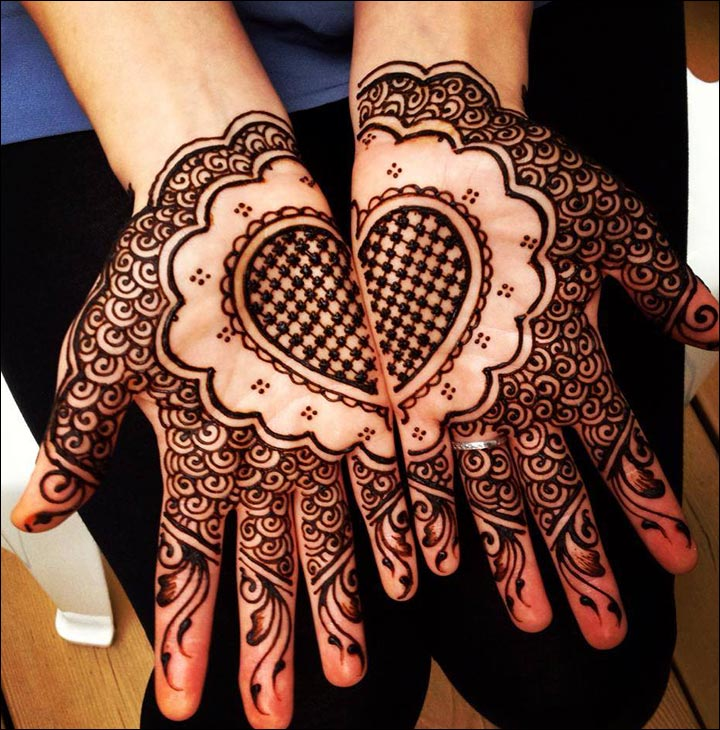 Mehndi Heart Shape : Pin heart shape mehndi designs on pinterest