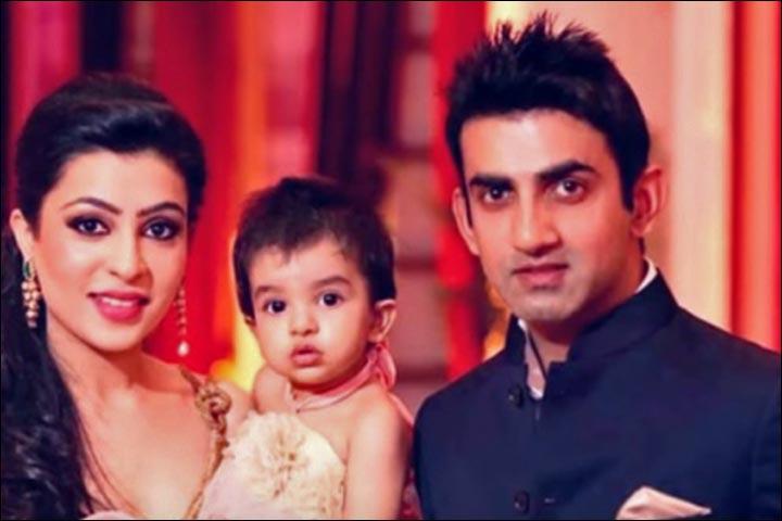 Gautam Gambhir Marriage - Gautam Gambhir And Natasha Jain With Their Son Aazeen