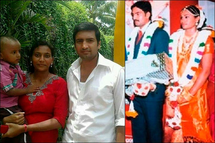 santhanam marriage   n santhanam with his wife usha and their youngest