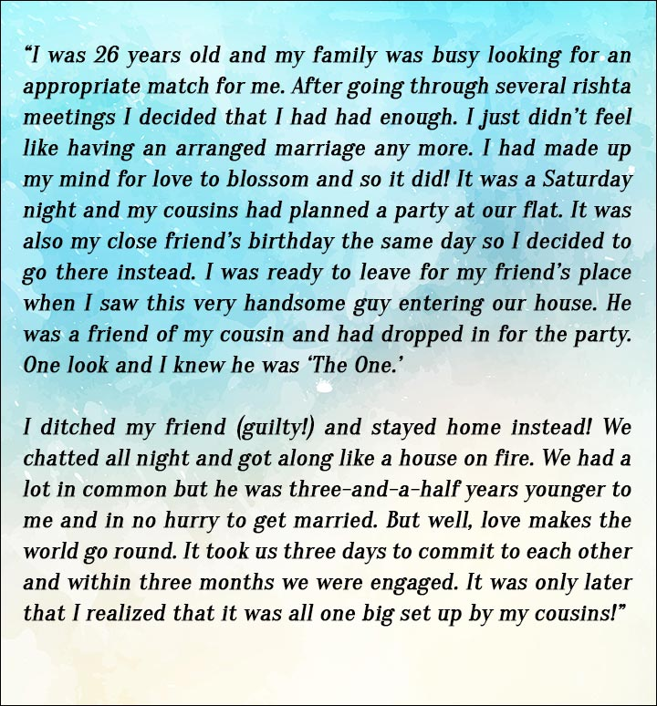 love in arranged marriages