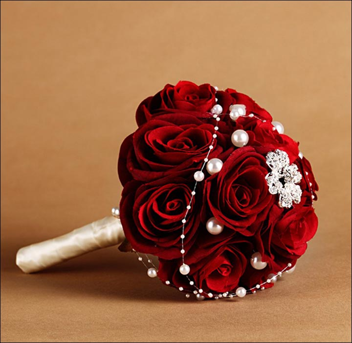 Red Rose Wedding Bouquets - Enchanted And Embellished