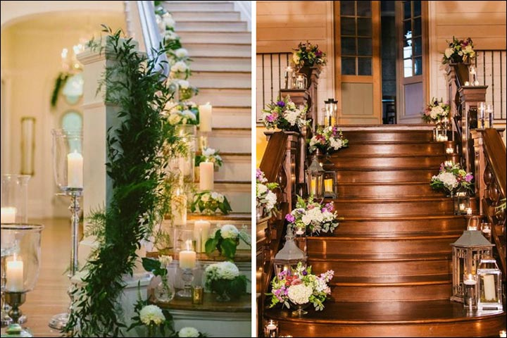 floral railing decoration wedding house decoration