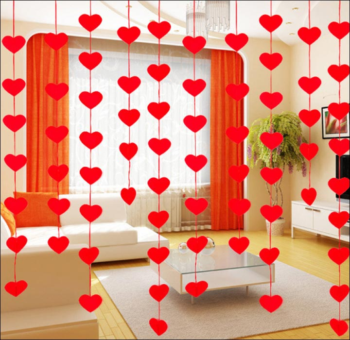 Wedding house decoration done right 15 ideas from quaint for Heart decorations for the home