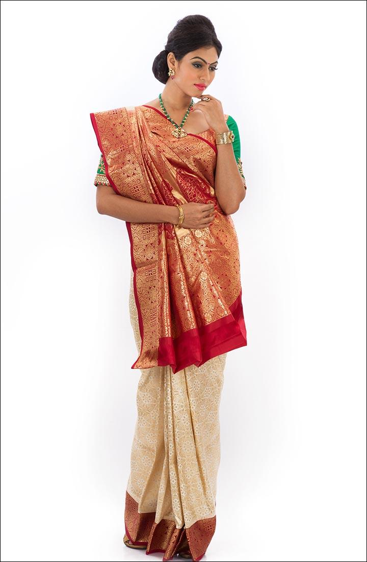 Indian Traditional Sarees - Kinkhwab Saree