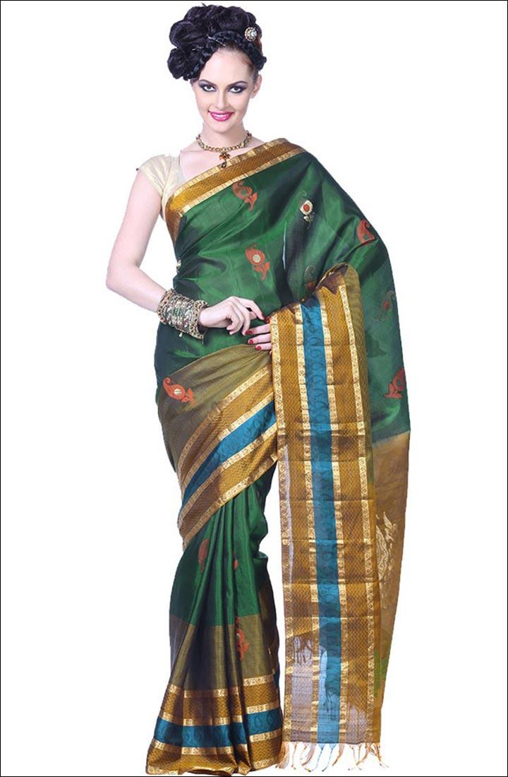 Indian Traditional Sarees - Konrad Silk Saree