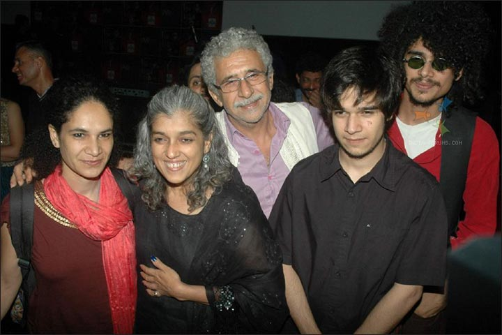Naseeruddin Shah's Marriage - Naseeruddin And Ratna With Kids Heeba, Imaad and Vivaan