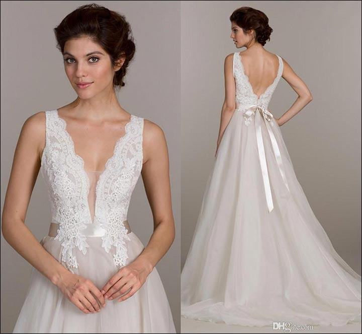 wedding dress styles for body types one with the small bust