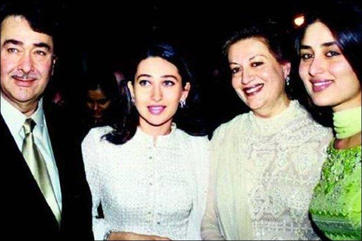 Randhir Kapoor's Marriage - Randhir And Babita With Karishma And Kareena