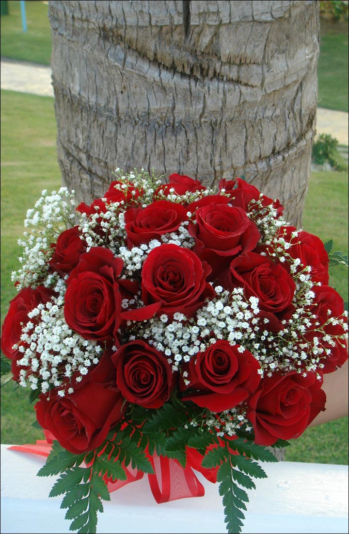 Red Rose Wedding Bouquets - Simply Sweet