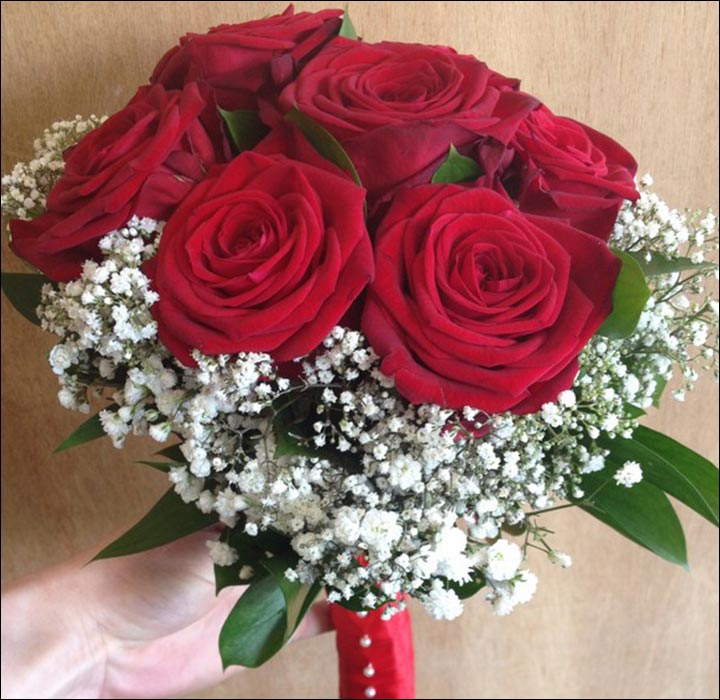 Red Rose Wedding Bouquets - Surrounded By Pretty!