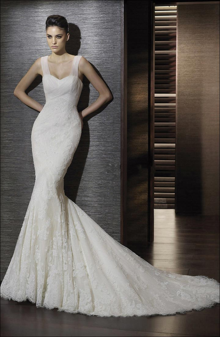 Wedding dress styles for body types according to your for Trumpet style wedding dresses