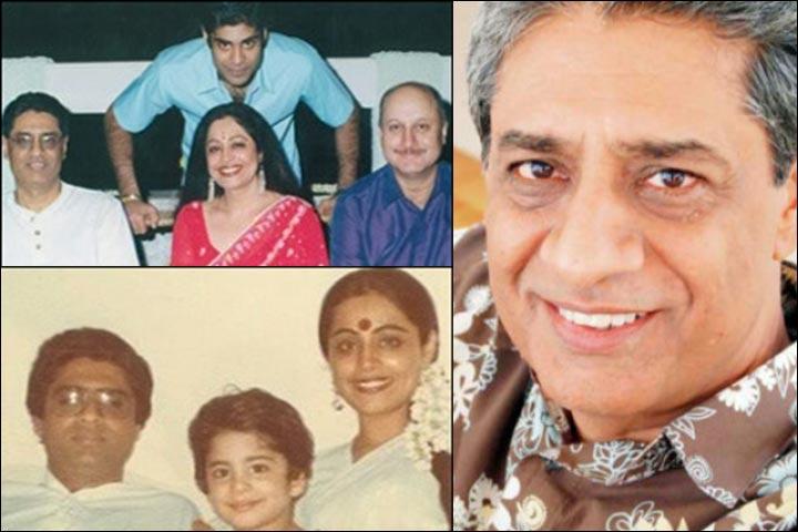 Anupam Kher's Marriage - Anupam And Kirron With Gautam Berry And Sikandar Kher; Inset Gautam Berry