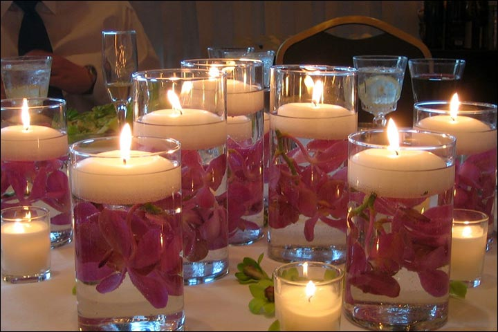 Water-And-Flower-Candles-wedding-house-decoration
