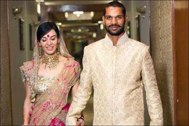 Shikhar Dhawan's Marriage - Shikhar Dhawan And Ayesha Mukherjee's Official Wedding PIc