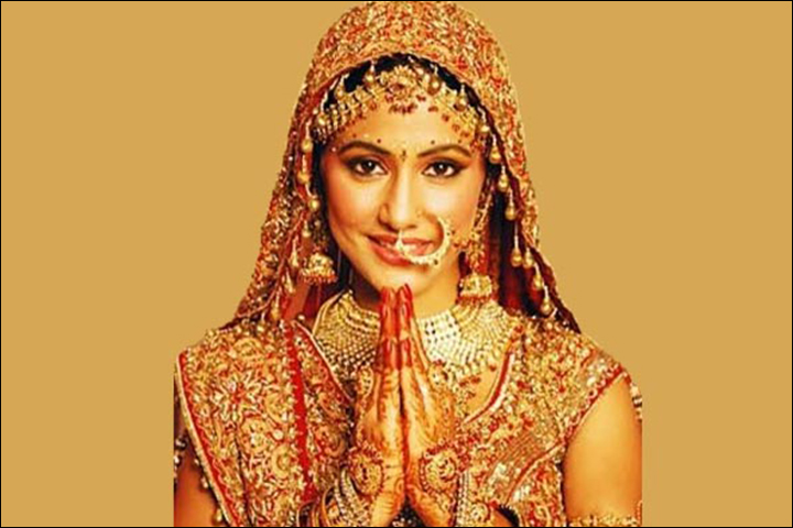 Bridal Bindi Designs - Gota And Glitter Bindi