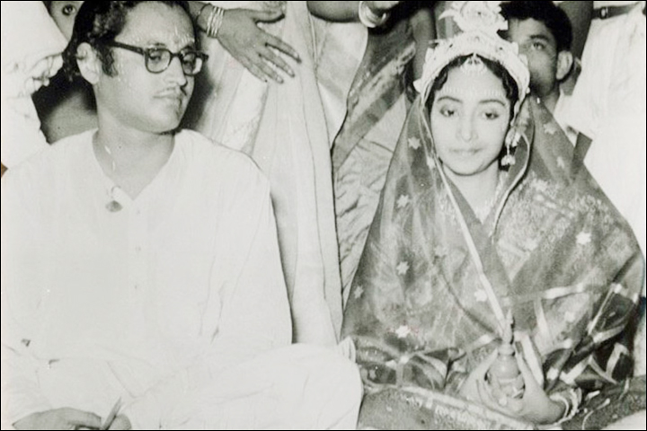 Guru Dutt's Marriage - Guru Dutt Marries Geeta Roy, The Wedding Portrait