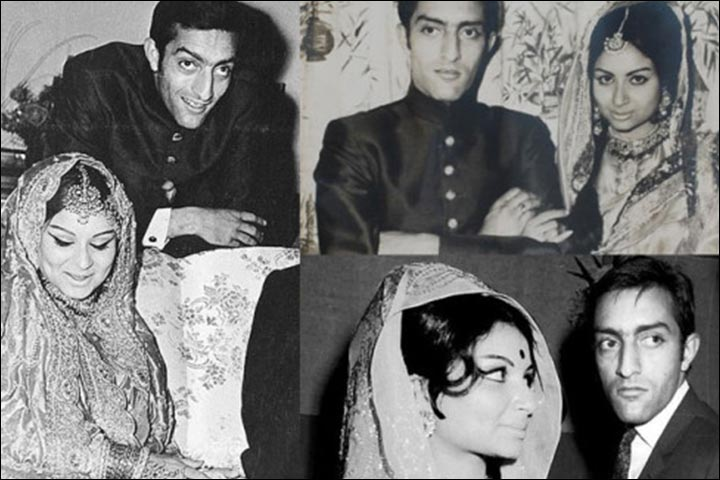 Sharmila Tagore's Marriage - Mansoor Ali Khan And Sharmila Tagore At Their Reception; Inset The Wedding Pic, And A Paparazzi Shot At A Cricket Event