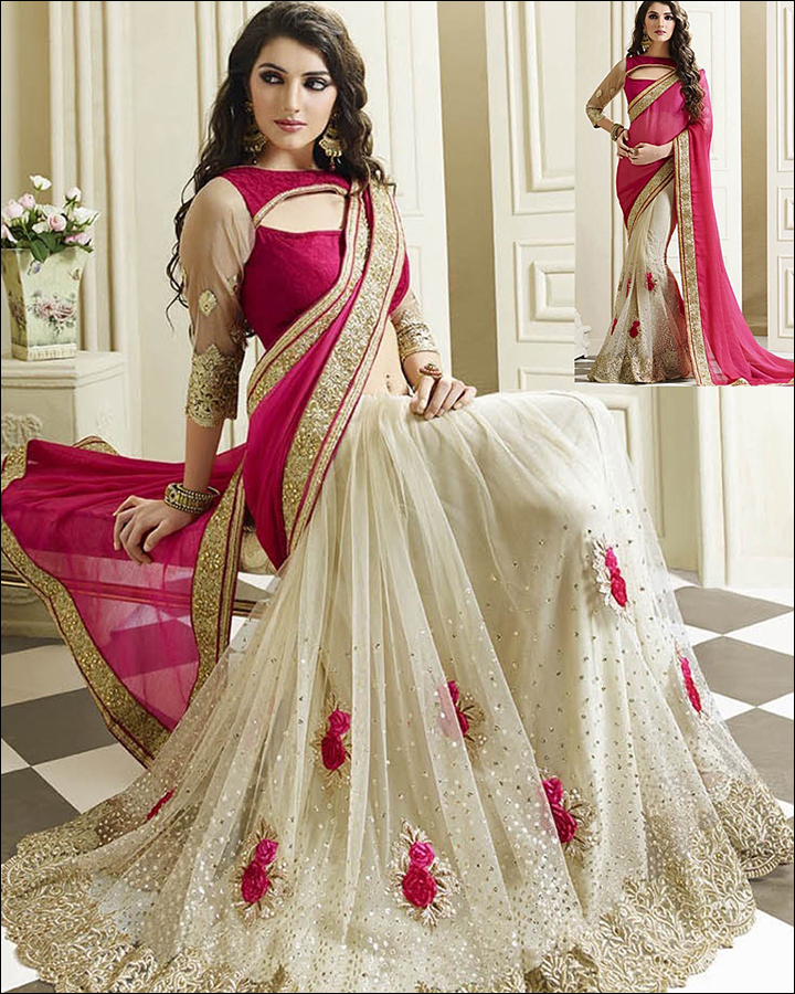 Tailored-And-Fitting-Blouse-net-saree-drapping