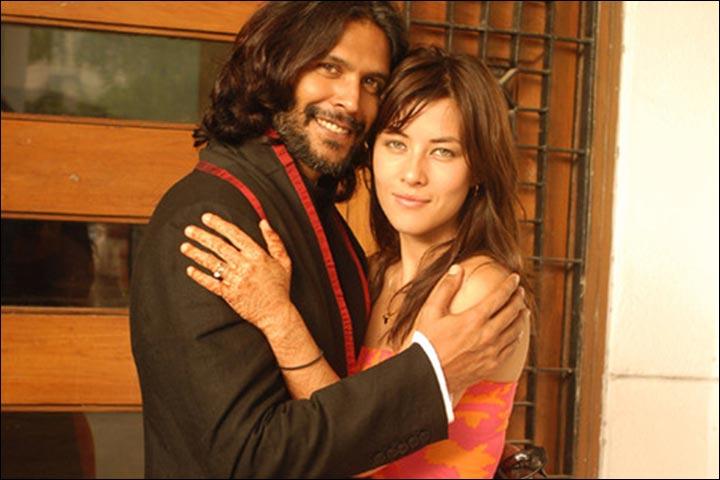 Milind Soman's Marriage - Milind Soman And Mylene Jampanoi's Post Wedding Social Pic