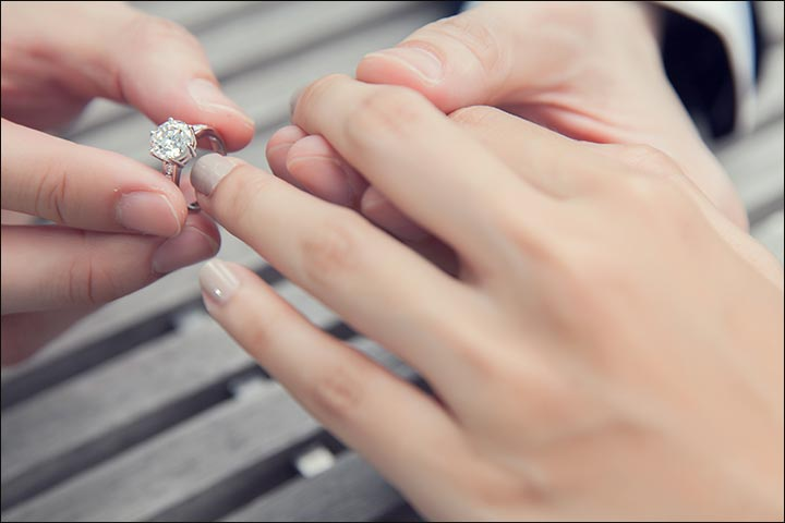 alternating between your wedding and engagement rings - How To Wear Your Wedding Ring