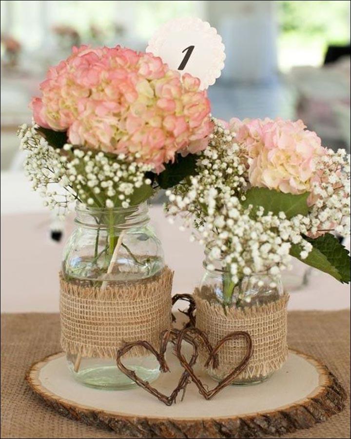 Burlap-Chic-Centerpiece-great wedding centerpieces