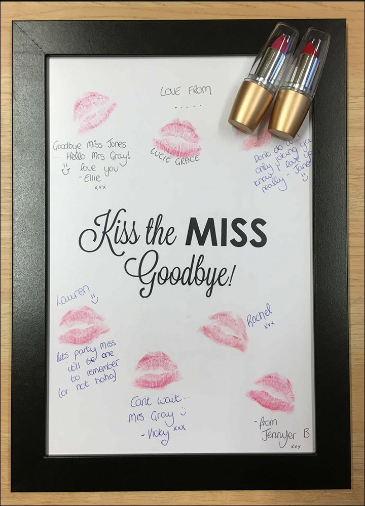 bridal shower games kiss the miss goodbye