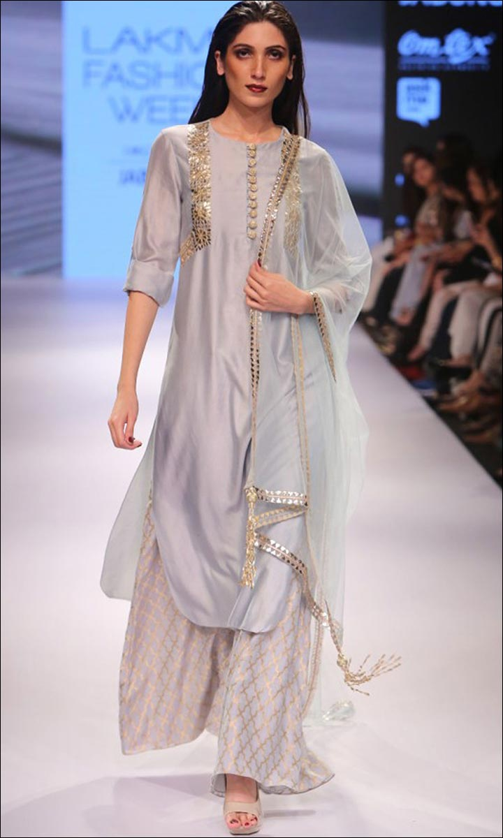 Palazzo-With-A-Long-Silk-Kurta-Beautiful Dresses You Can Wear For To Your BFF's Wedding