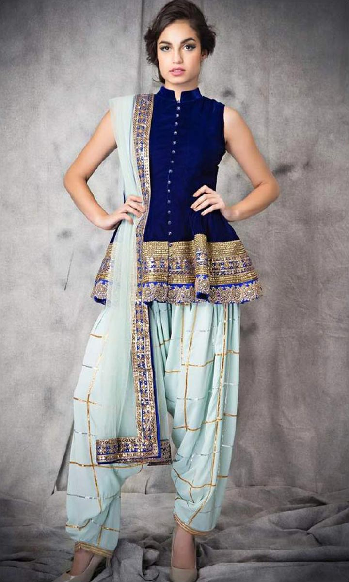 Peplum-Top-With-Dhoti-Pants-Beautiful Dresses You Can Wear For To Your BFF's Wedding