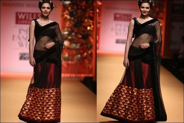 Saree-Pallu-Style-Dupatta-Drape-dupatta -styles