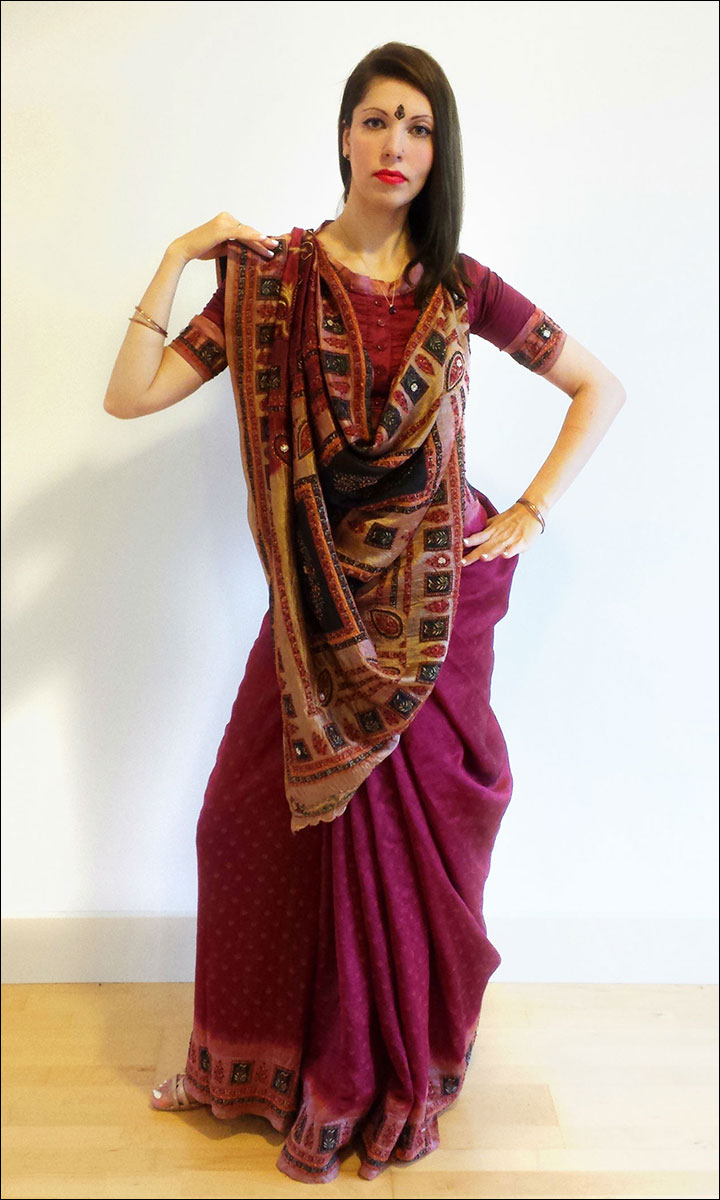 how-to-wear-gujarati-sarees