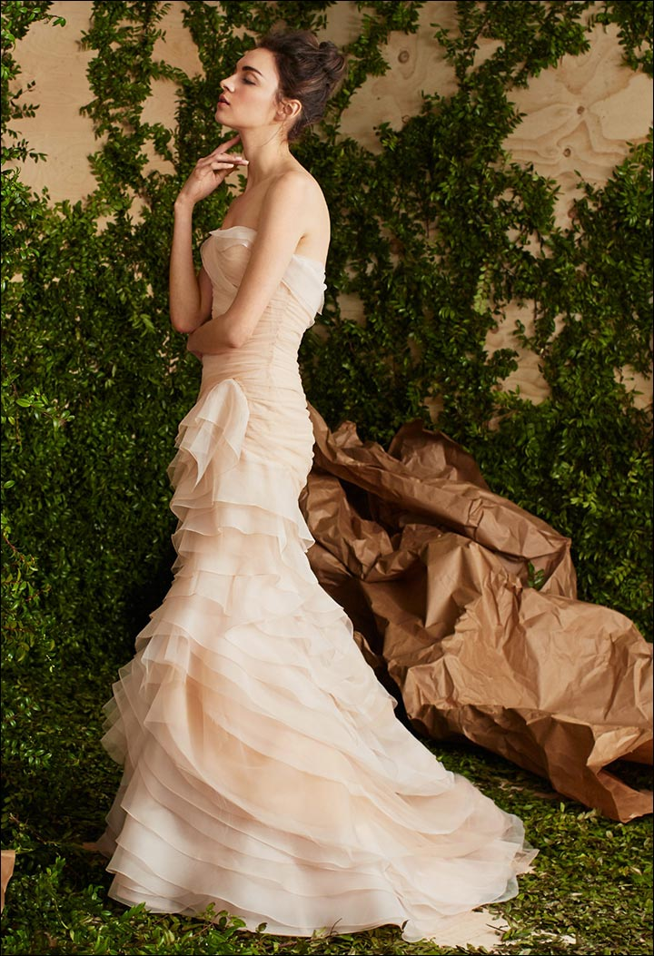 Blush-Organza-And-Soft-Tulle-Gown--Carolina- Herrera-Wedding -Dresses