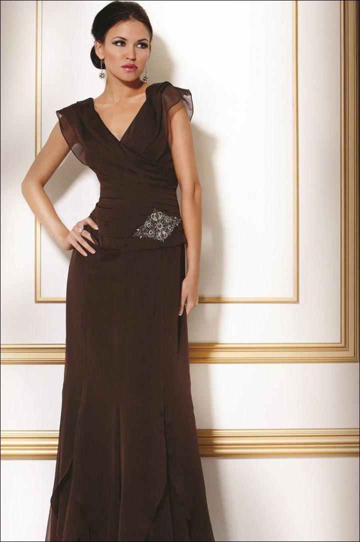 Dark-Brown-Gown-what-to-wear-to-a-black-tie-wedding