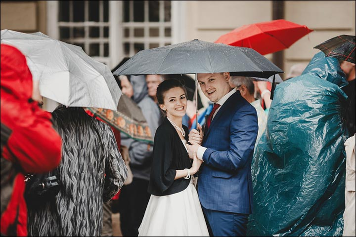 rain on your wedding day - Exciting-Wedding-Themes