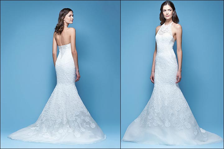 Lace-And-Organza-Halter-Gown--Carolina- Herrera-Wedding -Dresses