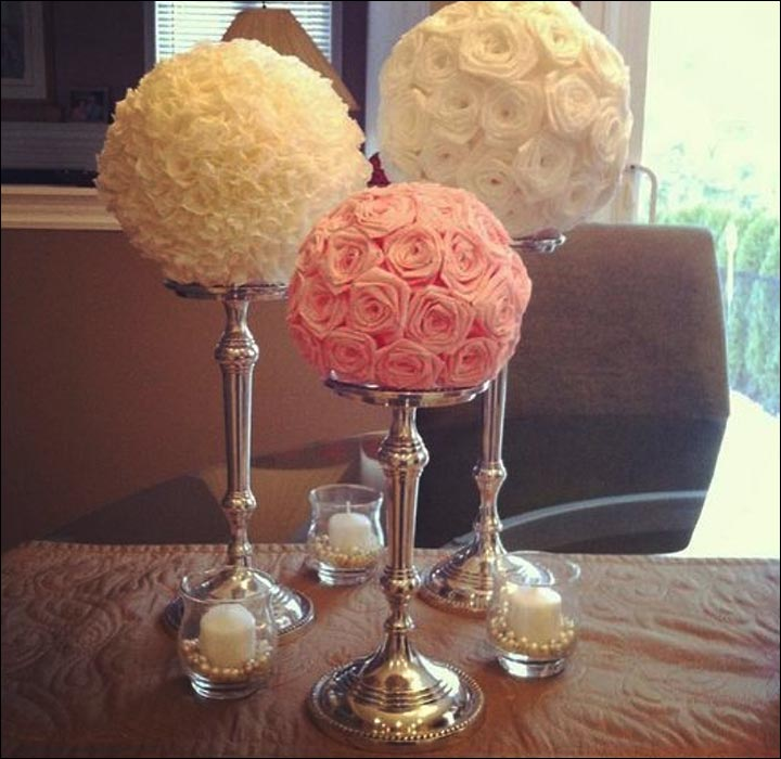 Rose-Bouquet-Stand--diy-wedding-centerpieces
