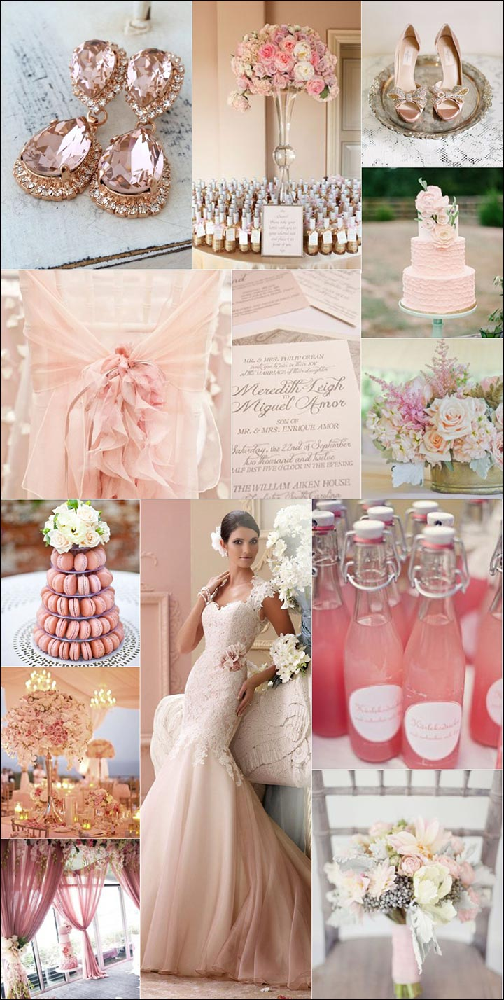 Rose-Gold-And-Cream-Color Combos To Explore For Your Wedding