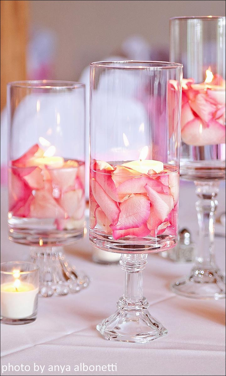 Rose-Petals-In-Glass-Jars--diy-wedding-centerpieces