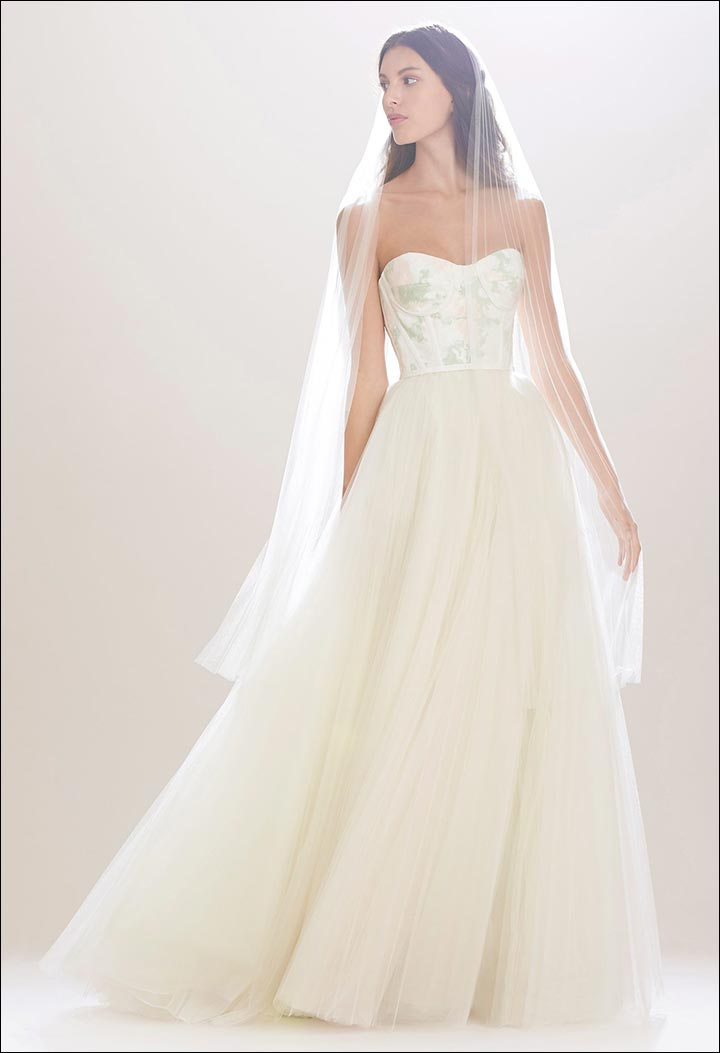 Silk-Taffeta-Gown-Carolina- Herrera-Wedding -Dresses