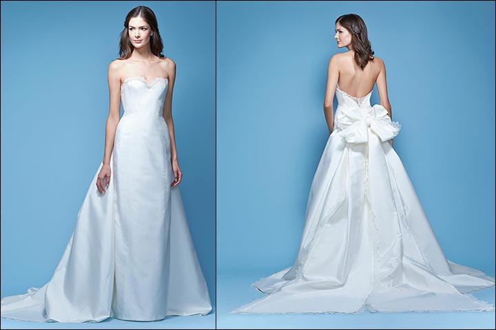 Strapless-Mikado-Bow-Carolina- Herrera-Wedding -Dresses