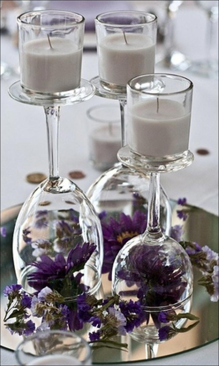 Wine-Glasses,-Candles-And-Flowers--diy-wedding-centerpieces